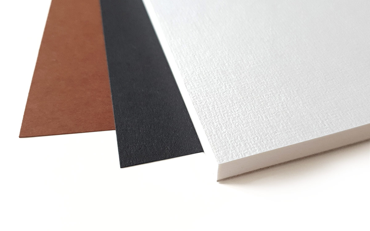 Kinds of paper - brown, black white canvas