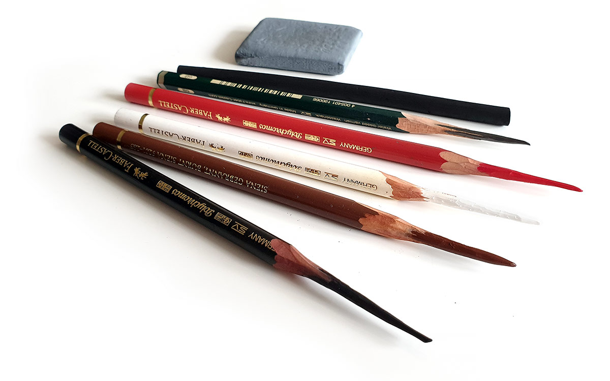 Portrait from photo - pencils, quality drawing tools